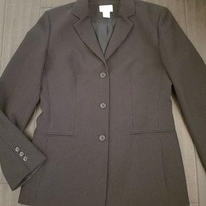 Ann Taylor sz 6 Black Pinstripe Blazer Jacket